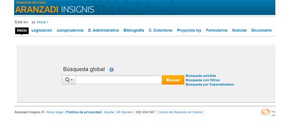 Base de dades jurídica Thomson-reuters-Aranzadi