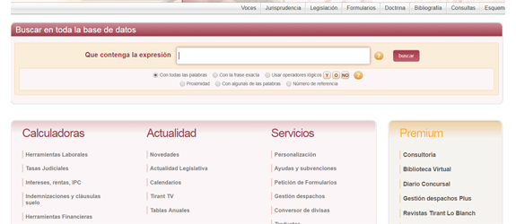 Bases de dades jurídica Tirant lo Blanch