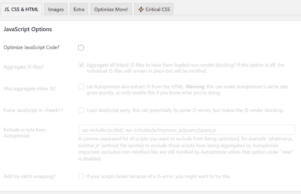 Automptimize plugin WordPress